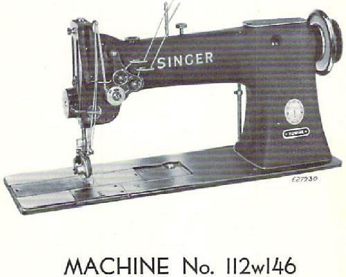 Singer 112w146 Industrial Sewing Machine Parts Manual