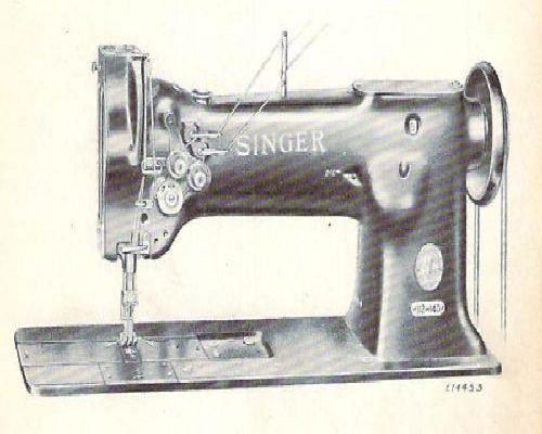 Singer 112w140 Industrial Sewing Machine Parts Manual