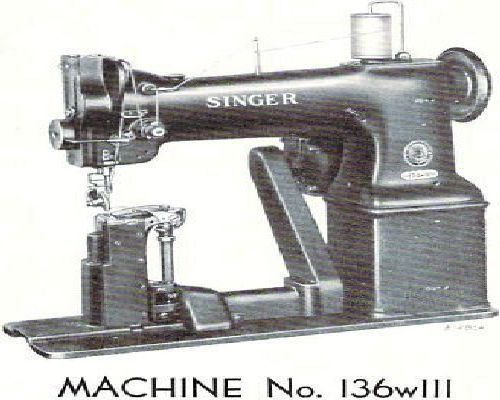 Singer 136w111 Industrial Sewing Machine Parts Manual
