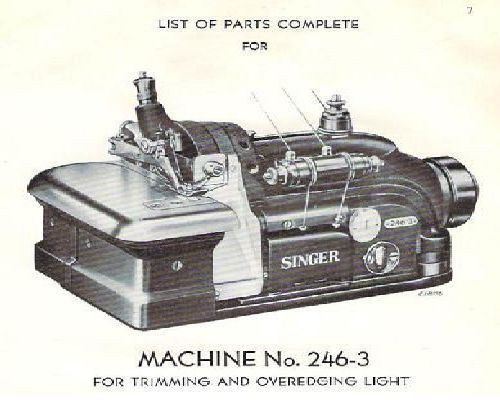 singer industrial sewing machine manual