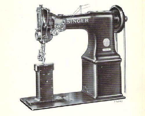 Singer 52w21 52w22 Industrial Sewing Machine Parts Manual