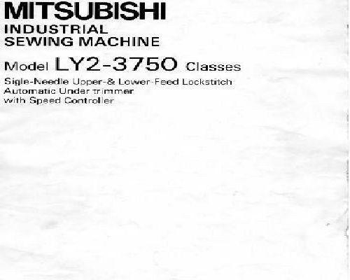 MITSUBISHI Sewing Machine Manuals Gorgeous Mitsubishi Sewing Machine Manuals