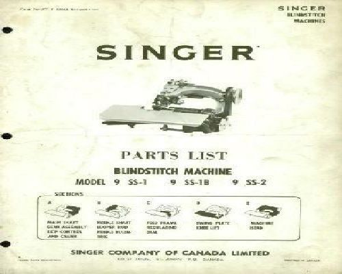 Singer Sewing Machine Parts Manuals