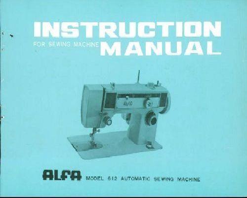 Original alfa 40 user's manual. Alfa 40. Sewing machine with.
