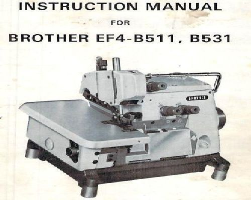 Brother Industrial Sewing Machine Manuals Impressive Brother Industrial Overlock Sewing Machine