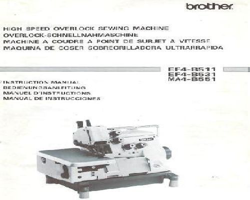 Brother Industrial Sewing Machine Manuals Extraordinary Brother Industrial Overlock Sewing Machine