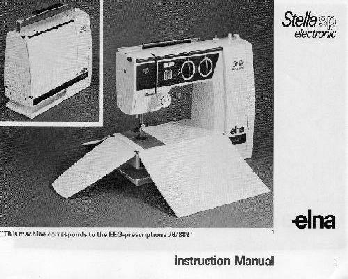 Elna Sewing Machine Manuals Unique Elna Air Electronic Tsp Sewing Machine Manual