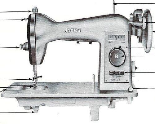 Jones Sewing Machine Manuals Fascinating Jones Cb Sewing Machine