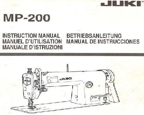 Juki Industrial Sewing Machine Manuals Unique Juki Industrial Sewing Machine Instruction Manual