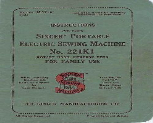 Singer Sewing Machine Instruction Manuals Page 2